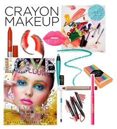 """Crayon Makeup🖍"" by jam1733 ❤ liked on Polyvore featuring beauty, Marc Jacobs, Revlon, Lime Crime, Chronicle Books, Beauty Is Life, MAC Cosmetics, tarte and crayonmakeup"