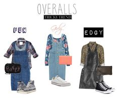 """""""Overalls: Tricky Trends"""" by the-daily-crafts ❤ liked on Polyvore featuring Abercrombie & Fitch, Current/Elliott, Converse, La Regale, Chicnova Fashion, Topshop, Ted Baker, Zadig & Voltaire, TrickyTrend and overalls"""