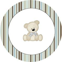 Making My Party!: Cuddly Teddy Blue and Brown - Complete Kit with frames for invitations, labels for snacks, souvenirs and pictures!