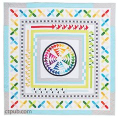 The Modern Medallion Workbook: 11 Designers Share Quilt Projects to Make, Mix & Match by Janice Zeller Ryan and Beth Vassalo Storm At Sea Quilt, Flying Geese Quilt, Sampler Quilts, Scrappy Quilts, Rainbow Quilt, Baby Quilt Patterns, Quilt Border, Quilting Projects, Quilting Ideas