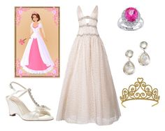 """Rapunzel's Wedding"" by sassyladies ❤ liked on Polyvore featuring Miadora, Pink Paradox London, Carolina Herrera and Ippolita"