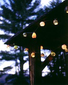 Halloween Decor: Hanging Gourd Lights