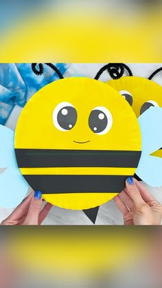 Crafts For Toddlers, Bee Crafts For Kids, Paper Plate Crafts For Kids, Animal Crafts For Kids, Spring Crafts For Kids, Art Activities For Kids, Toddler Crafts, Preschool Crafts, Toddler Activities