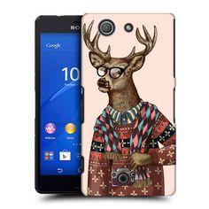 Pouzdro na mobil Sony Xperia Z3 Compact D5803 HEAD CASE HIPSTR SVETR JELEN