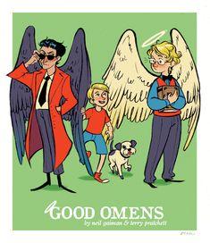 good omens by ~flockofcrows on deviantART