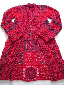 There are unique jacket, yes it's DIY Crochet Granny Square Jacket Cardigan Free Patterns Inspirations that will enhanced you styles. Beau Crochet, Crochet Mignon, Pull Crochet, Mode Crochet, Crochet Diy, Cardigan Au Crochet, Gilet Crochet, Crochet Coat, Crochet Jacket
