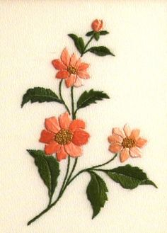 Japanese Flowers Embroidery