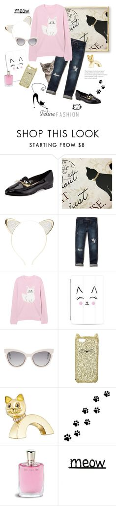 """""""Meow"""" by rever-de-paris ❤ liked on Polyvore featuring Kate Spade, Charlotte Russe, Hollister Co., Casetify, Fendi, Boucheron, WALL, Lancôme, contestentry and polyvoreeditorial"""