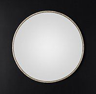 RH Modern's Wallscape Convex Mirror - Large:Pared down to the simplest of forms, our convex mirror can be used alone or arranged in any configuration to create a contemporary, light-reflecting wallscape.