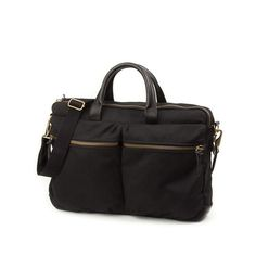 Marcus Work Bag in coated (in what?) cotton canvas; big enough for a laptop.