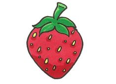 Colorier une fraise Christmas Ornaments, Holiday Decor, How To Draw, Easy Drawings, Sketching, Strawberry Fruit, Children, Christmas Jewelry, Christmas Decorations