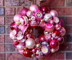 how to make a knockoff pink vintage ornament wreath, christmas decorations, crafts, seasonal holiday decor, wreaths Vintage Pink Christmas, Pink Christmas Ornaments, Vintage Ornaments, Christmas Decorations, Christmas Time, Christmas Ideas, Holiday Ideas, Merry Christmas, Holiday Wreaths