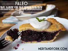 Black 'n Blueberry Pie by @meritandfork #paleo meritandfork.com