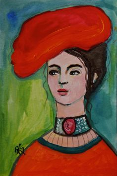 Paulina - Original Portrait Painting by ArtcyLucy on Etsy  SOLD