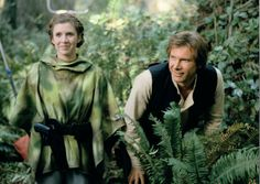 Carrie Fisher & Harrison Ford. Star Wars: Episode VI - Return of the Jedi.