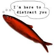 RED HERRING  A red herring is something that misleads or distracts from a relevant or important issue.