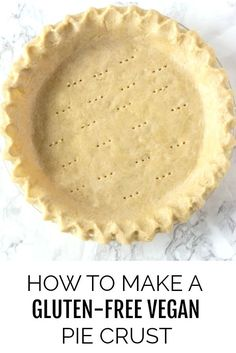 This Gluten-Free Vegan Pie Crust recipe is easy to prepare and so delicious just like traditional pie crust. Made with only 3 ingredients plus salt and water. It is the perfect alternative pie crust for all your Thanksgiving, Christmas recipes. Vegan Pie Crust, Gluten Free Pie Crust, Pie Crust Recipes, Gluten Free Baking, Gluten Free Desserts, Dessert Recipes, Recipes Dinner, Gluten Free Pumpkin Pie, Vegan Pumpkin Pie