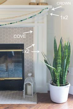 Fireplace DIY - Drab to Fab Fireplace makeover