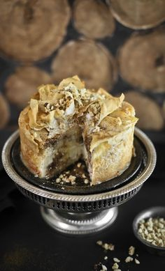 Baklava Cheesecake with Cinnamon-honey drenching syrup
