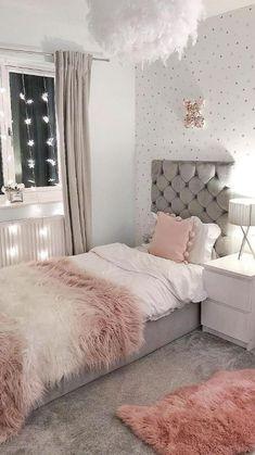 Teen Bedroom Designs, Bedroom Decor For Teen Girls, Room Design Bedroom, Modern Bedroom Design, Room Ideas Bedroom, Small Room Bedroom, Home Decor Bedroom, Small Rooms, Master Bedroom