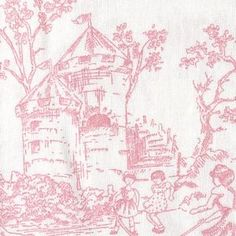 Once Upon a Time Pink Toile