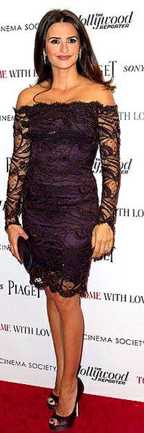 Penelope Cruz: Dress - Emilio Pucci Jewery - Chopard similar style dresses by the same designer Emilio Pucci Off-the-Shoulder Lace Dress Emilio Pucci - Guipure Viscose Lace Dress