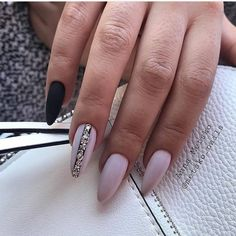New Nails Shellac Design Girls 70 Ideas Gorgeous Nails, Love Nails, Fun Nails, Pretty Nails, Matte Nails, Stiletto Nails, Acrylic Nails, Matte Almond Nails, Shellac Designs
