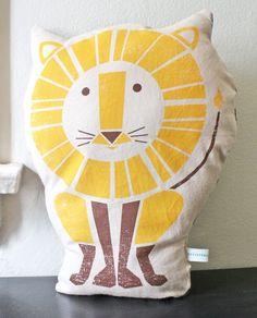 lion pillow $28