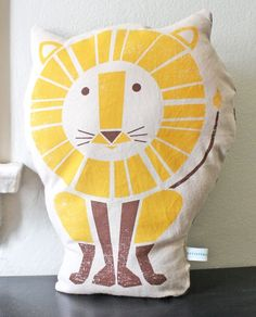 lion pillow $28