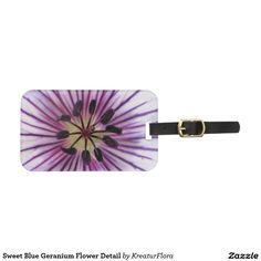 Sweet Blue Geranium Flower Detail Luggage Tag