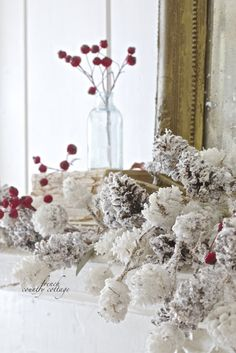 Winter Frost Mantel -    Simple is key when it comes to winter decorating.         It seems that after the holidays...   s...