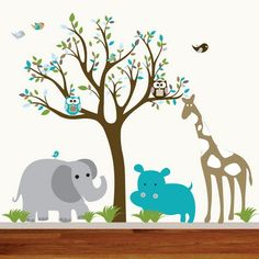 Fun Tree Birds Wall Stickers