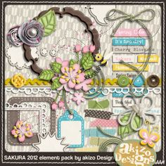 a japanese digiscrap kit about sakura (cherry)  blossoms. Isn´t it perfectW