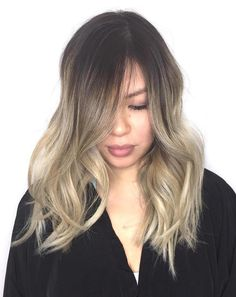 Ash Blonde Balayage Ombre (cool toned blonde ombre)