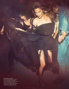 DISCOTHEQUE  French Vogue  Photographed by Inez & Vinoodh Model Cameron Russell  Styled by Emmanuelle Alt Hair: Christiaan Make Up: Wendy Rowe
