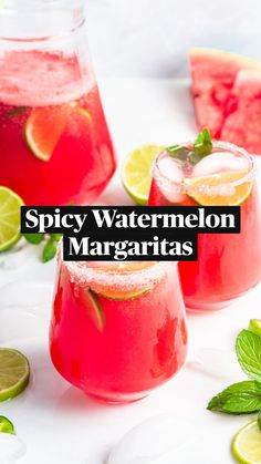 Fruity Cocktails, Refreshing Drinks, Summer Drinks, Smoothie Drinks, Smoothies, Watermelon Margarita, Clean Eating Meal Plan, Homemade Desserts, Different Recipes