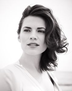 Hayley Atwell.  Claire Randall Fraser, in Diana Gabaldon's Outlander series.