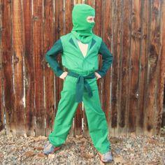 Lego Ninjago BASIC Green Ninja inspired costume for boys