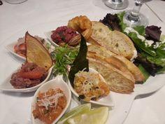 L'assiette dégustation dans le cadre du Festival des Grands Crus du Paris Grill, festival où le tartare est en vedette!