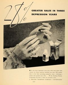 1933 for the J. Walter Thompson Advertising Company