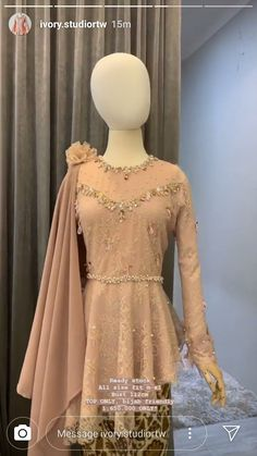 Gaun Dress, Dress Brukat, Hijab Dress Party, Model Dress Kebaya, Kebaya Modern Dress, Model Kebaya Brokat Modern, Stylish Dress Designs, Stylish Dresses, Fashion Dresses