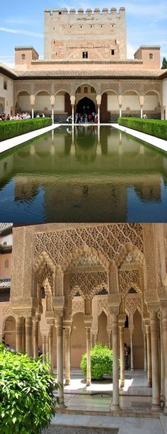 Nasrid Palaces, a beautiful example of Spanish architecture. L'architecture Espagnole, Spanish Architecture, Architecture Design, Travel Around The World, Around The Worlds, Alhambra Spain, Seville Spain, Voyage Europe, Amazing Buildings