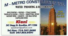 General Contractor, Concrete Contractor  They have been experienced since 1984, and serve Queens, Bronx, Manhattan, Brooklyn, and Nassau. They specialize in brick pointing, roofing, steam cleaning, therolastix coating, stucco, parapet wall repair, masonry work, concrete, side walk repair, scaffolding work, and much much more. Their prices are best in town and we believe in good workmanship Please give them a call today! Primary Email: ajazkiani@yahoo.com Cell: 347-865-0591