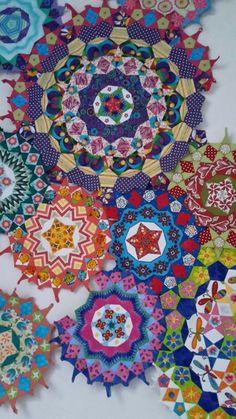 Izy Denham ' s la passacaglia millefiori quilt in the making :)