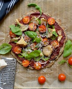 Top 10 Flour Less Healthy And Creative Paleo Pizza Recipes - Grain-Free Chia Buckwheat Pizza This thin crust chia buckwheat pizza is full of great flavors, it is high quality nutrition and has a firm texture resembling that of a regular pizza crust. This yummy pizza recipe is perfect for those who love pizza and want a healthy twist to the usual carb-heavy versions made from refined flours, yeast and unnecessary amounts of oil.