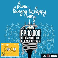 In collaboration with @gojekindonesia @cocowaterid is participating in #cebanramadhan for its delivery services. Rp 10,000,- only for the delivery fee around the jakarta area. Better make good use of it while it lasts COCO lovers! #coco #cocowaterid #iminlovewiththecoco #coconutwater #coconut #bazaar #bazaarjkt #jktgo #platform #platformid #caloriefest #jkteats #eatsandtreats #marketmuseum #ilovebazaarjkt #jakarta #gofood #gofoodjakarta #gojek #gojekindonesia #gofoodbygojek