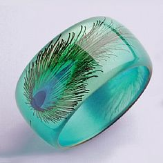 peacock feather bangle