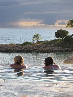 Hot tubs at Aulani. This was us!