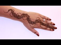 Learn Full Hand Henna/Mehendi Design Step By Step Tutorial - YouTube