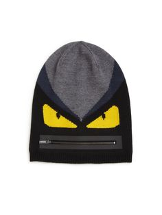 0366b4f949b Fendi Monster Wool Beanie Mens Gear